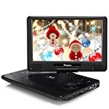 "NAVISKAUTO 12"" Portable Blu Ray DVD Player Support HDMI Out, Sync Screen, 1080P Video, Last Memory, USB SD, Dolby Audio"