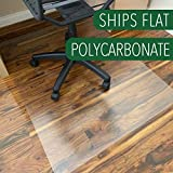 Polycarbonate Office Chair Mat for Hardwood Floor, Floor Mat for Office Chair(Rolling Chairs)-Desk Mat&Office Mat for Hardwood Floor-Sturdy&Durable, Immediately Flat When Taken Out of Box: 36'x48'