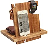 abhandicrafts Today's Deals - Mango Wooden Android Docking Station, 50th for Couple, Funny, iPhone 6s Plus, 6s, 6 Plus, 6, 5, 5s