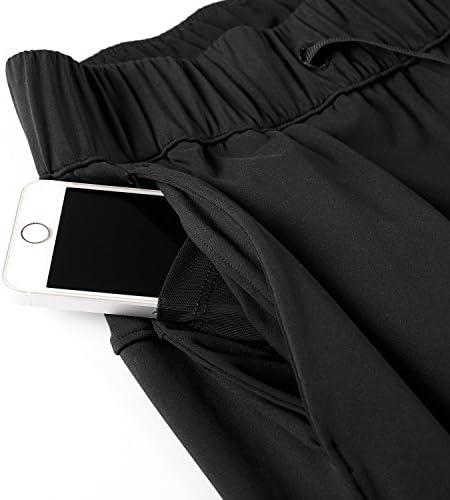 CRZ YOGA Women's Stretch Lounge Sweatpants Travel Ankle Drawstring 7/8 Athletic Track Yoga Dress Pants 6