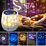 Shayson Night Lights for Kids Universe 360 Rotating Star Projector Lamp Romantic Star Sea Ocean Birthday Light Lamp for Kids Baby Room, Baby Nursery Light - 5 Sets of Film