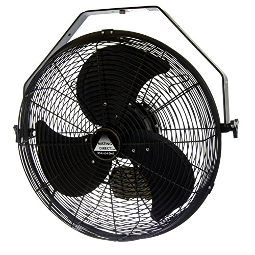 Misting Direct Wet Location Fan w/ 18 Inch Blades, Indoor/Outdoor, Wall/Ceiling/Pole Mount (Oil Rubbed Bronze)