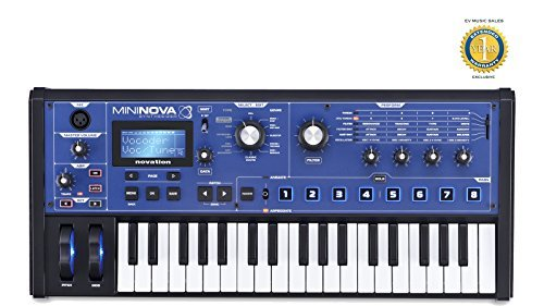 Novation MiniNova 37-mini-key Synthesizer/Vocoder with 1 Year Free Extended Warranty