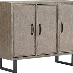 Click Décor Cottage Storage Cabinet, Gray