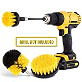 Drill Brush Attachment Set - Power Scrubber Brush Cleaning Kit - All Purpose Drill Brush with Extend Attachment for Bathroom Surfaces, Grout, Floor, Tub, Shower, Tile, Corners, Kitchen, Automotive