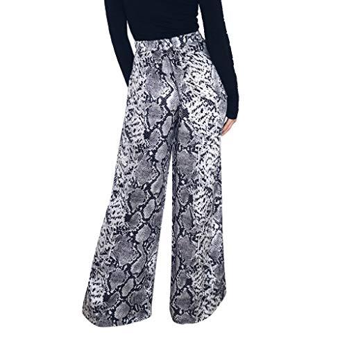 Sunyastor Pantalones Casuales de Leopardo de Talle Alto para Mujer, Pantalones de Verano de Pierna...