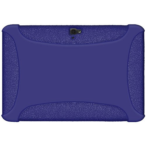 Amzer Silicone Jelly Skin Fit Case Cover for Google/Samsung Nexus 10 - Blue (AMZ95134)