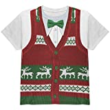 Christmas Holiday Sweater Vest All Over Youth T Shirt Multi YLG