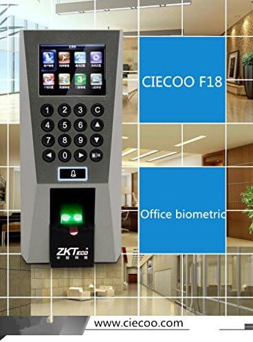 Ciecoo Biometric Building Management System Door Access Control ZK F18 Fingerprint Scanner Access Control Time Attendance Door Locks TCP/IP Tool RF Reader Alarm Systems