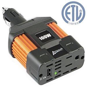 Ampeak Power Inverter DC 12V to 110V AC Car Inverter with USB Port
