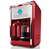 BELLA 13911 Dots Collection 12-Cup Programmable Coffee Maker, Teal