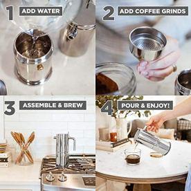 GROSCHE-Milano-Stella-Aroma-Stainless-Steel-Moka-pot-Stove-Top-Espresso-coffee-maker-4-cup-espresso-200-ml-7-fl-oz-Induction-ready-espresso-maker