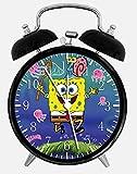Spongebob Squarepants Alarm Desk Clock 3.75' Home or Office Decor W46 Nice For Gift
