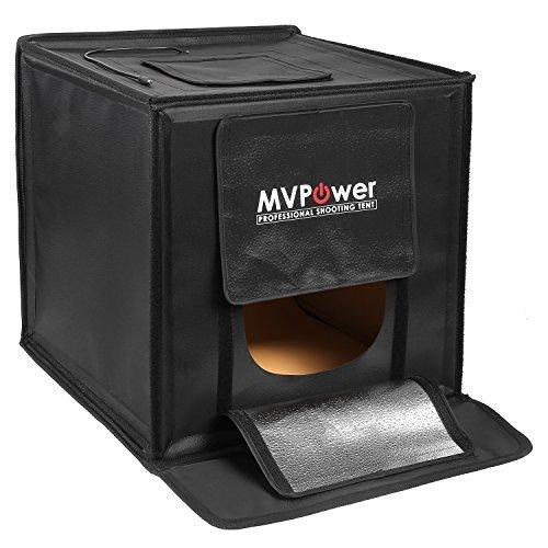 MVPOWER 16''x16''x16'' Portable Photo Studio Kit Shooting Tent Foldable LED Light Box Kit with 4 Colors Backdrops for Camera Studio Photography