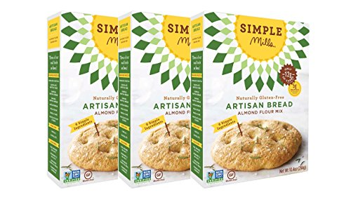 Simple Mills Almond Flour Mix, Artisan Bread, 10.4 oz, 3 count