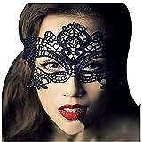Girls Women Ball Lace Mask Catwoman Masquerade Dancing, Black, Size Free Size
