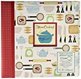 C.R. Gibson ''Home Cooking'' Family Recipe Book with Tabbed Dividers and Sheet Protectors, 9.5'' W x 9.5'' H