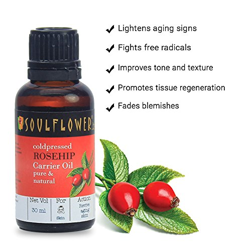 Soulflower Rosehip Oil for Wrinkles and Fine Lines, 30ml 12