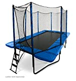 JumpSport 10'x17' StagedBounce | Includes Rectangular Trampoline, Safety Enclosure, and 108 High Performance Springs | Exclusive Spring Technology for Performance and Safety