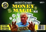 Jim Stott's 'Ultimate Money Magic Kit, Magic Tricks Set for Adults, Coin Thru Glass, Flying Coins, Magic Pen Penetration, The Money Maker, Folding Paper Mystery, The Ultimate Levitation System