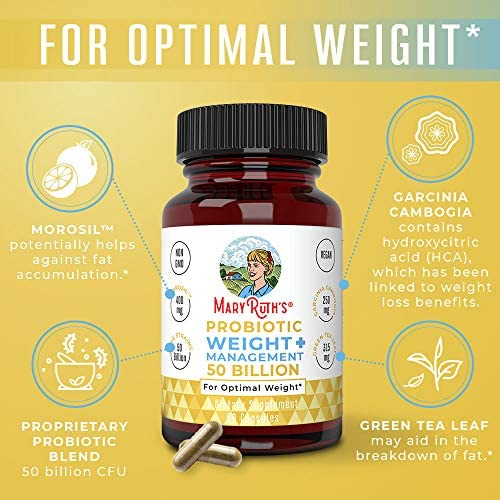 Probiotic Weight Management+ by MaryRuth's - 50 Billion CFU - Vegan Gut Health Supplement with Morosil, Garcinia Cambogia & Green Tea - Weight Loss Probiotics - 60 Ct 3