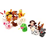 Finger Puppets Finger toys,Danibos 12pcs Velvet Small Animal Baby Stories Helper, Christmas Finger Puppets for Baby, Kids (finger toy) (finger toy(12pcs animal))