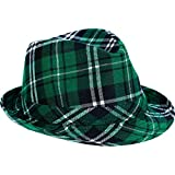 amscan St. Patrick's Day Plaid Fabric Fedora Hat | Party Accessory