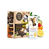 Lemonkind SUPER DETOX ME Metabolism Booster 3 Day Cleanse, Fruits & Veggies plus SUPERFOODS - Chlorella, Turmeric, Chia, Green Tea and Acerola - 24 Juices (Pack of 3)