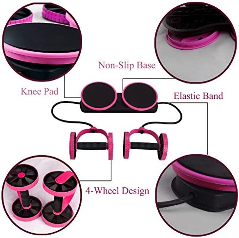 Darhoo Ab Roller Wheel - Ab Wheel Exercise Fitness Equipment - 5-in-1 Multi-Functional Core Ab Workout Abdominal Wheel Machine - Ab Roller Home Gym Equipment for Both Men & Women 2