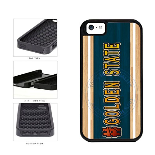 BleuReign(TM) Basketball Team Hashtag Golden State #GoldenState 2-Piece Dual Layer Phone Case Back Cover For Apple iPhone 5 5s
