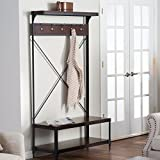 Product review for Entry Hall Tree Coats & Bags Hangers W Storage for Shoes Belham Living Trenton