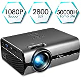 Projector, CiBest Video Projector with 2800 Lux 170' Display Portable Mini LED Home Theater Entertainment Projector 1080P Supported, Compatible with PS4, HDMI, VGA, TF, AV and USB