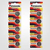 Panasonic CR2016 3 Volt Lithium Coin Battery (10 pcs)