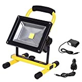 LTE LED Rechargeable Work Light 20W 1600LM Portable Outdoor Flood Light Waterproof Camping Security Lights 6000K IP65 Daylight White