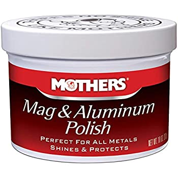 Best chrome polishes Mothers 05101 Mag & Aluminum Polish - 10 oz