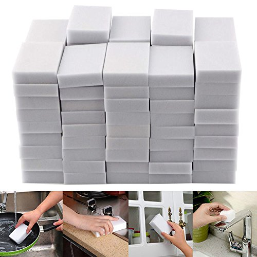 100pcs Multifunctional Sponge Cleaning Sponges Magic Stain Remover Melamine Foam Cleaner Kitchen Accessories