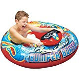 MRT SUPPLY Aqua Blast Inflatable Motorized Water Blaster Bumper Boat for Kids with Ebook