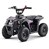 XtremepowerUS 40CC ATV Quads Gas Powered 4-Stroke EPA Engine 4-Wheeler Off Road ATV Utility Rugged Handle -Pink