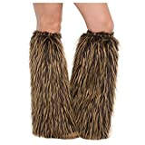 AMSCAN Medieval Furry Leg Warmers Halloween Costume Accessories for Adults, 18'