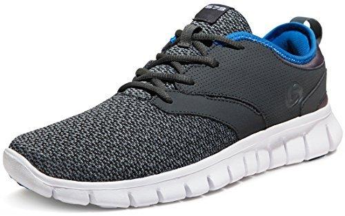 Tesla TF-X574-DGB_Men 11 D(M) Men's Knit Pattern Sports Running Shoes X574 (True to Size)
