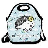 Ojinwangji HIPPY HEDGEHOG Lunch Bag Thermal Bags Outdoor Picnic Meal Package For Boys Girls Women Kids
