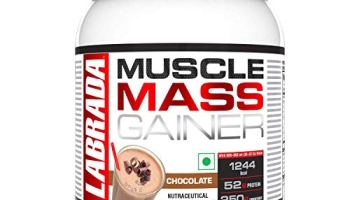 Labrada Muscle Mass Gainer (Gain Weight, Post-Workout, 52g Protein, 250g Carbs,1g Creatine, 500mg L-Carnitine, 3 Servings) – 2.2 lbs (1 kg) (Chocolate)