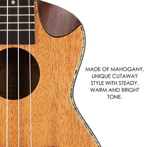 Mugig-Soprano-Ukulele-Mahogany-Body-Rosewood-Fingerboard-Cutaway-Design-4-Strings-Instrument-Italian-Aquila-Nylon-Strings-with-carrying-bag21-inch