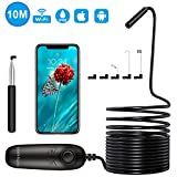 Wireless Endoscope Camera 1200P Semi-Rigid Inspection Camera WiFi Borescope 2.0 MP HD Snake Camera for Android & iOS iPhone, Samsung, Ipad, Table - Black 33FT