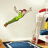 """Peter Pan Cartoon Wall Decal Sticker 22""""x 22"""""""