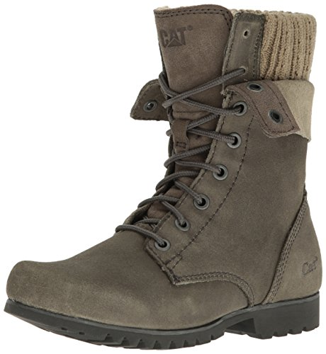 Caterpillar Women's Alexi Combat Boot, Grey Suede, 8.5 M US