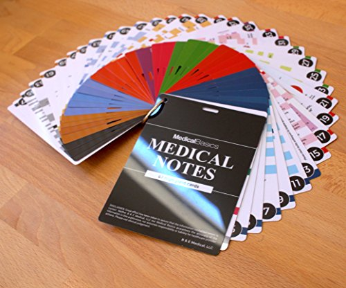 Medical Notes 67 Medical Reference Cards (3.5″ x 5″ Cards) for Internal Medicine, Surgery, Anesthesia, OBGYN, Pediatrics, Neurology, and Psychiatry – Waterproof Full Color cards deal 50% off 51kVWNgIxJL