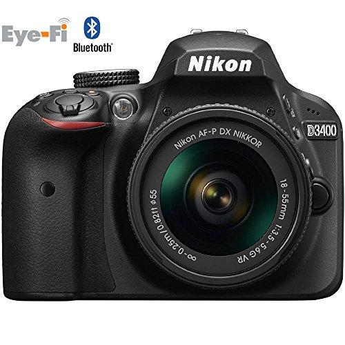 Nikon D3400 Digital SLR Camera & 18-55mm VR DX AF-P