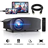 HD Projector, GBTIGER 4000 lumens LED Video Projector, Full HD 1080P Support, 200' Display, Compatible with Fire TV Stick PS4 HDMI USB VGA AV with HDMI Cable
