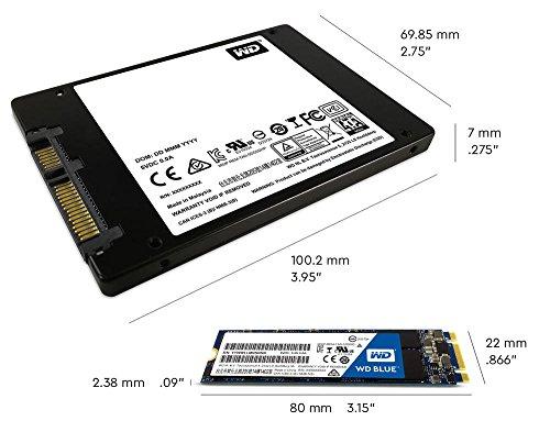 Western Digital Blue 500GB M.2 Internal Solid State Drive (WDS500G2B0B) 5